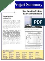 0206 Santa Fe Railroad - Lime Injected System Railroad Stabilization