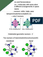 Isomerism and Nomenclature