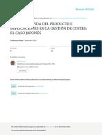 EL CICLO DE VIDA DEL PRODUCTO E IMPLICACIONES EN LA GESTIÓN DE COSTES