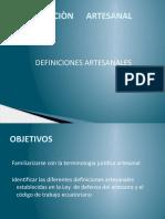 DEFINICIONES ARTESANALES 2014