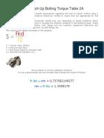 Flange Bolt-Up Bolting Torque Table 2A.pdf.pdf