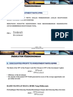 07-Indikator Ekonomi Kelaikan Projek PIR,DPIR,Analisa SENSITIVITAS