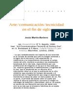 Barbero - Arte comunicacion tecnicidad en el fin de siglo.pdf
