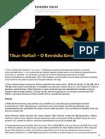 Breslevbrasil.com-Tikun HaKlali O Remédio Geral