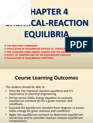 Chapter 4 Chemical Reaction Equilibria | Chemical
