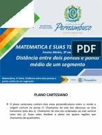Geometria Analítica - Distância entre dois pontos e ponto médio de um segmento.pptx