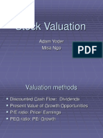 Lecture 5 - Stock Valuation (N)