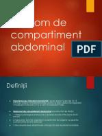 Sindrom de Compartiment Abdominal