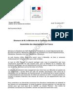 Discours Jacques MÉZARD_ADF