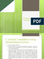 Pharmacokinetic Variability