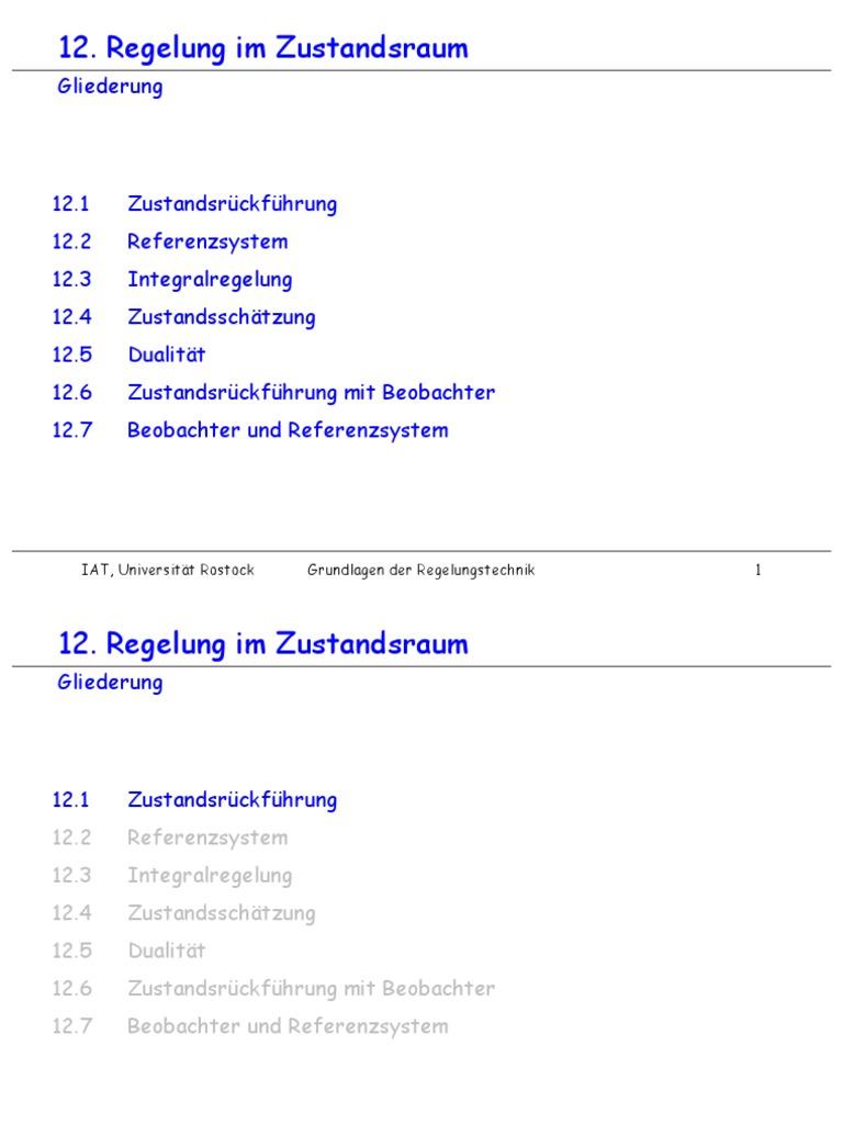 Nett Zustandsraum Zum Blockdiagramm Galerie - Der Schaltplan ...