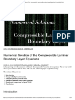 Numerical Solution of the Compressible Laminar Boundary Layer Equations _ CuriosityFluids