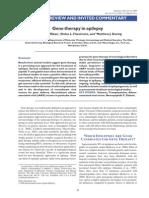 Gene Therapy of Epilepsy