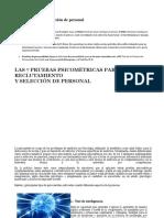 Test Psicométricos Selección de Personal