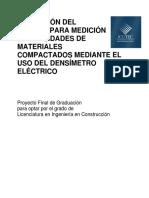 Validación Metodo Medicion Densidades Materiales Compactados