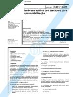 NBR 13321 - 1995 - Membrana Acrilica Com Armadura Para Impermeabilizacao