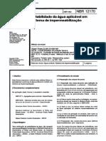NBR 12170 - 1992 - Mb 3511 - Potabilidade Da Agua Aplicavel Em Sistema de Impermeabilizacao
