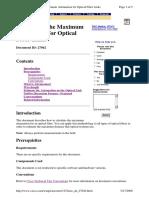 Calculating the Maximum Attenuation for Optical Fiber Links