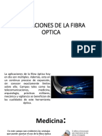 Aplicaciones de La Fibra Optica