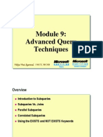 Module 09 Advance Query Techniques
