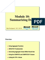 Module 10 Summarizing Data