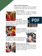 Danzas Folklóricas o Regionales