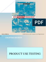 Product Use Testing