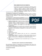 Informe Administración Documental