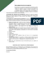 Informe Administración Documental