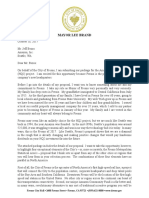 Mayor Brand Amazon HQ2 Cover Letter