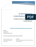Maths Comparison Summary Report