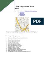 Complete Pakistan Map Garmin Nokia S60v5 Application