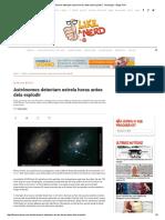 Astrônomos Detectam Estrela Horas Antes Dela Explodir _ Tecnologia - Blogs POP