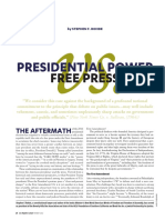 Presidential Power v. Free Press, by Stephen F. Rohde (c) 2017 Los Angeles County Bar Association