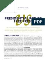 Presidential Power v. Free Press, by Stephen F. Rohde (c) 2017 Los Angeles County Bar Association