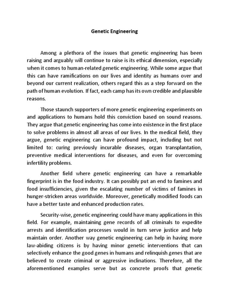 Genetic Engineering Essay | Cram