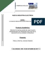 Proyecto Instalacion de Una Planta de Energias Eolicas en El Municipio de Alvarado Perla Cristal Chavez Ramon