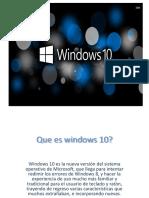 Presentación WINDOWS 10