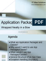 Application Classes Implementation