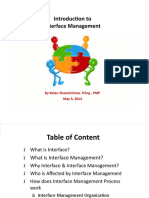 Interface Management Presentation