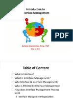 Interface Management Presentation