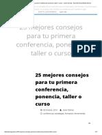 25 Mejores Consejos Para Tu Primera Conferencia, Ponencia, Taller o Curso - Javier Gomez - Guerrilla Social Media Murcia