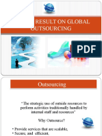 Survey Result on Global Outsourcing