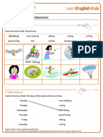 Short Stories Buzz and Bobs Big Adventure Worksheet