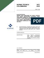 Ntc3232 Normas Para Empalmes de Cable Usados Con Cable Dielectrico Extruido Para Tensiones Desde 5000v Hasta 46000 V