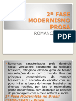 2ª Fase Modernismo Romance de 30
