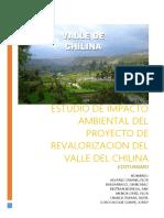 Estudio de Impasto Ambiental Del Proyecto Revalorizacion Del Maravilloso Valle Del Chilina