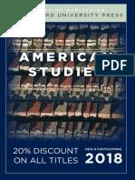 American Studies 2018 Catalog
