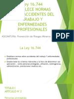 Resumen Ley 16744