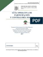 Guia Operativa de Participacion y Contraloria Social